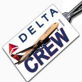 Delta Airlines 767 Crew Tag